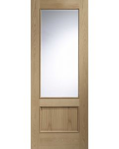 Andria Oak With Clear Bevelled Glass and Raised Mould Internal Door