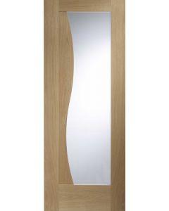 Emilia Oak With Clear Glass Internal Doors