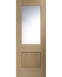 Piacenza Oak With Clear Glass Internal Doors