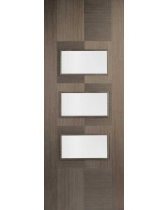 Apollo Chocolate Grey Clear Glazed Internal Door