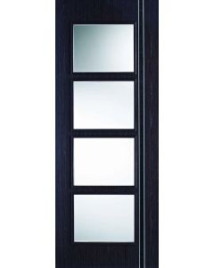 Zanzibar Ash Grey Oak Clear Glazed Internal Door