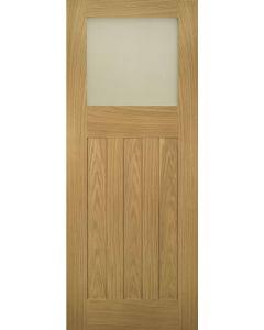 Cambridge Oak Obscure Glazed Internal Door