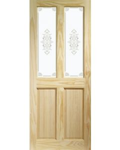 Victorian Clear Pine with Campion Glass Internal Door