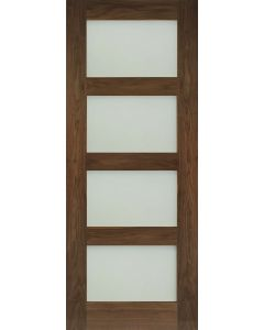Coventry Walnut Frosted Glazed Pre-Finished Internal Door