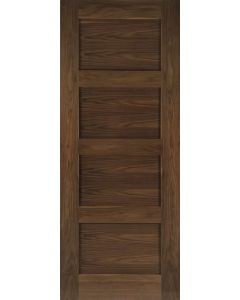 Coventry 4 Panel Walnut Internal Fire Door FD30