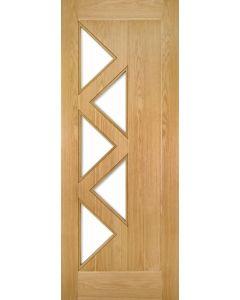 Seville Oak 5 Light Pre-Finished Clear Glazed Internal Door