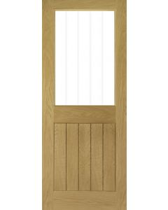 Ely Oak 1 Light Clear Glazed Internal Door