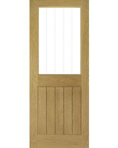 Ely Oak 1 Light Pre-Finished Clear Glazed Internal Door