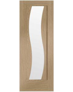 Florence Oak Pre-Finished Clear Glazed Internal Door