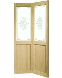 Victorian Clear Pine With Campion Glass (BI-FOLD) Internal Door