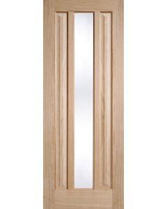 Kilburn Oak Clear Glazed Internal Door