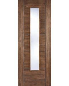Vancouver Walnut Laminate Clear Glazed Internal Door