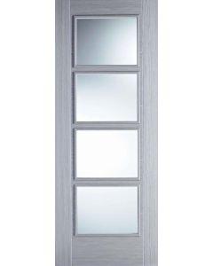 Vancouver Light Grey Clear Glazed Internal Door