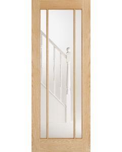 Lincoln Oak Clear Glazed Internal Door