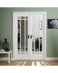 W4 Manhattan White Painted Bevelled Glazed Room Dividers