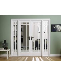 W6 Manhattan White Painted Bevelled Glazed Room Dividers