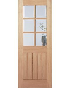 Mexicano Oak 6 Light with Bevelled Glass Internal door