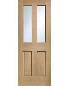 Malton Oak Pre-Finished Clear Bevelled Glass Internal Door