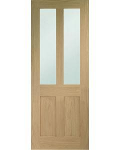 Malton Shaker Oak Clear Glazed Oak Internal Door