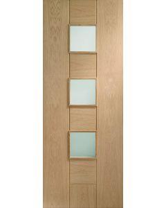Messina Oak Obscure Glazed Raised Mould Internal Door