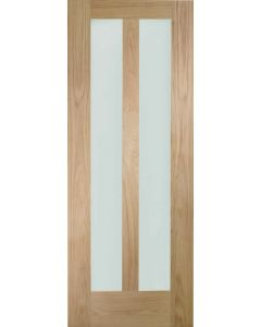 Novara Oak With Clear Glass Internal Door
