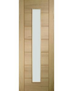 Palermo Oak Original 1 Light With Clear Glass Pre-Finished Internal Door