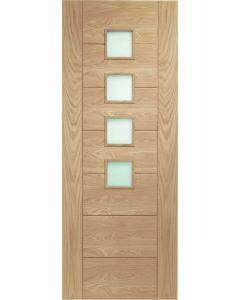 Palermo Oak Original with Obscure Glass Internal Door