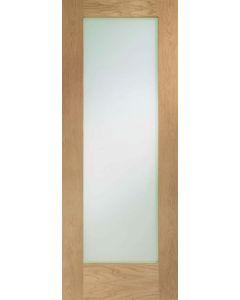 Pattern 10 Oak Pre-Finished Clear Glazed Internal Door