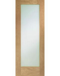 Pattern 10 Frosted Glazed Oak Internal Door