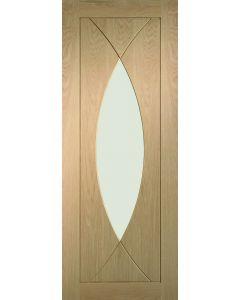 Pesaro Oak Clear Glazed Internal Fire Door FD30