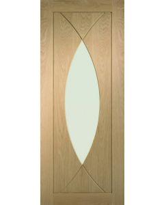 Pesaro Oak With Clear Glass Internal Door