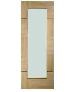 Ravenna Oak with Clear Glass Internal Door