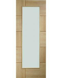 Ravenna Oak Pre-Finished Clear Glazed Internal Door
