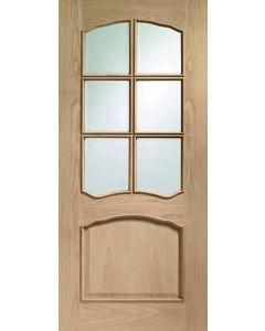 Riviera Bevel Oak Glazed Raised Mould Internal Door