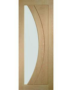 Salerno Oak with Clear Glass Internal Door