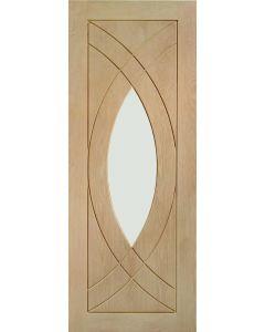 Treviso Oak With Clear Glass Internal Door