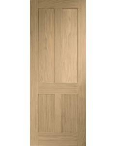 Victorian Shaker 4 Panel Oak Internal Fire Door FD30