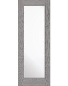 Diez Pearl Grey Pre-Finished Clear Glazed Internal Door