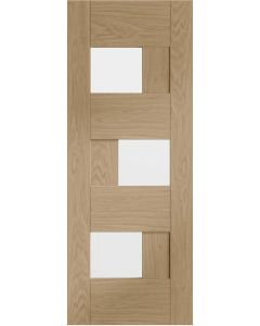Perugia Oak Pre-Finished Clear Glazed Internal Door