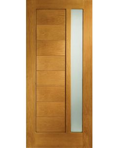 Modena Oak Pre-Finished with Obscure Glass External Door