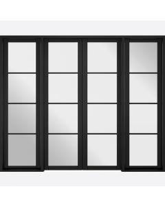 Soho Black W8 Room Divider