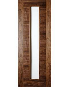 Seville Walnut Clear Glazed Pre-Finished Internal Fire Door