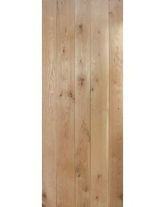 Solid Oak Framed & Ledged Internal Door