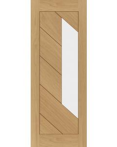 Torino Oak Pre-Finished Clear Glazed Internal Door