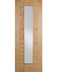 Vancouver Oak Long Light Clear Glazed Pre-Finished Internal Fire Door FD30