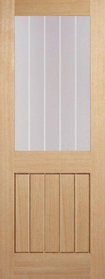 Mexicano Oak Half Light Pre-Finished Internal Door