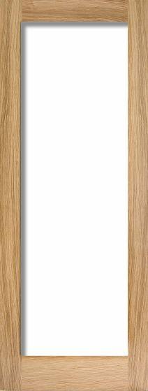 Pattern 10 Oak With Clear Glass Internal Door