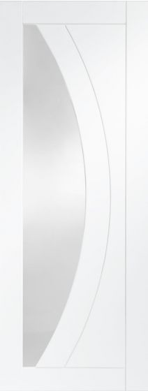 Salerno White Primed Clear Glazed Internal Door