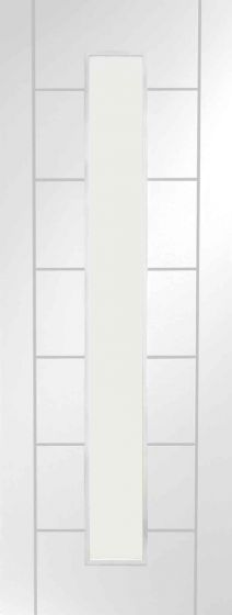Palermo White 1 Light with Clear Glass Internal Door