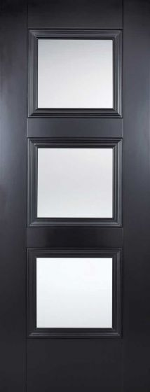 Amsterdam Black Clear Glazed Internal Door